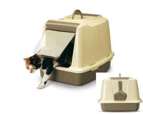 SAVIC Закрытый туалет для кошек SPHINX с дверцей и сменным фильтром