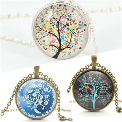 Кулон, медальон с деревом
