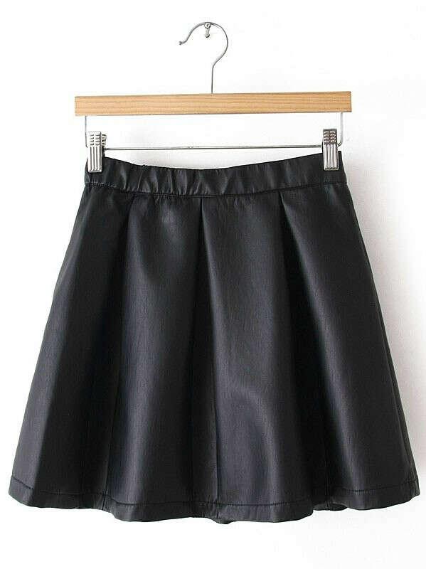 кожаную юбку