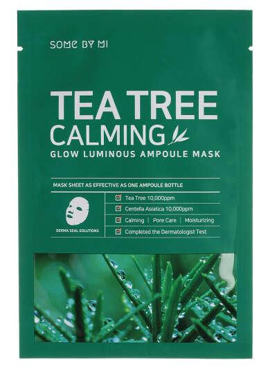 Some By Mi Маска для лица тканевая с чайным деревом Tea Tree Calming Glow Luminous Ampoule Mask
