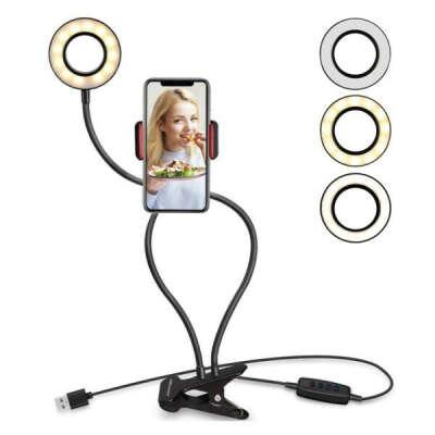 Универсальный гибкий держатель для мобильных телефонов с подсветкой