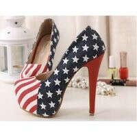 Хочу туфли с флагом Америки .