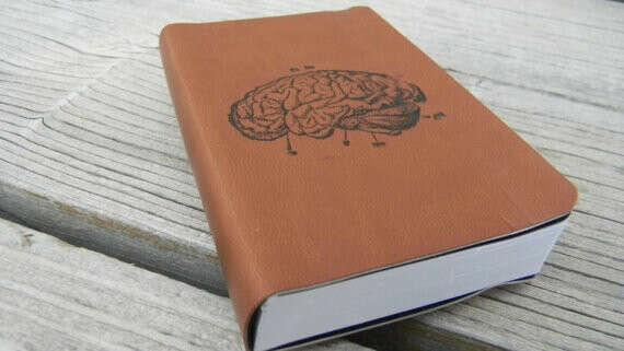 Human Brain Pocket Journal Sketch Book Pad