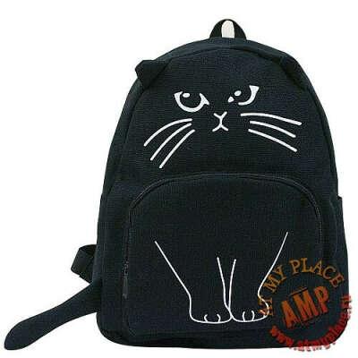 """Рюкзак с ушками """"Кот"""" черный"""