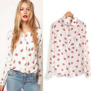 Блузка с губками