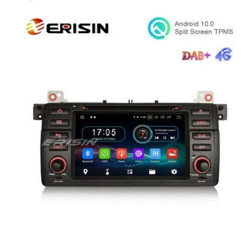 "Erisin ES6946B 7"" Octa-Core Android 10.0 Car DVD GPS Radio WiFi BT 4G for BMW M3 E46 3er 318 Rover 75 - Erisinworldwide"