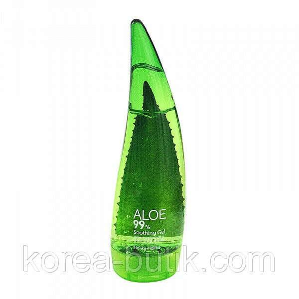 Многофункциональный увлажняющей гель, содержащий  99% сока алое Holika Holika Aloe Soothing Gel