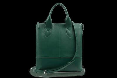 Кожаная сумка тоут зеленая Laguna Green | Верфь