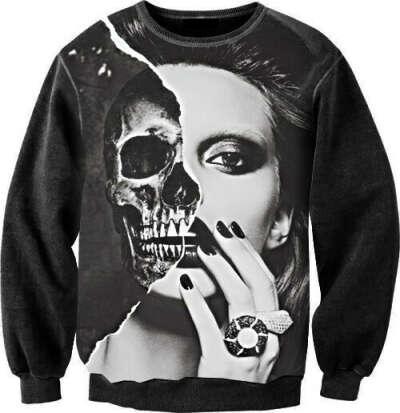 Толстовка Sexy sweaters - Skull face