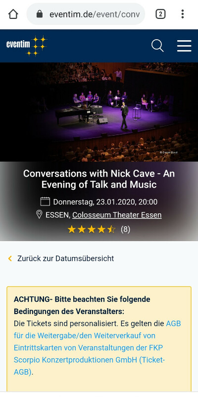 Билеты на концерт Nick Cave and The Bad Seeds