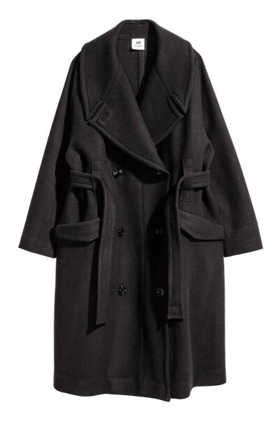 Шерстяное пальто HM Studio