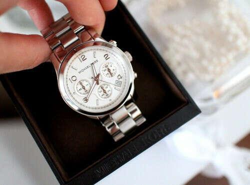 Серебряные часы Michael Kors
