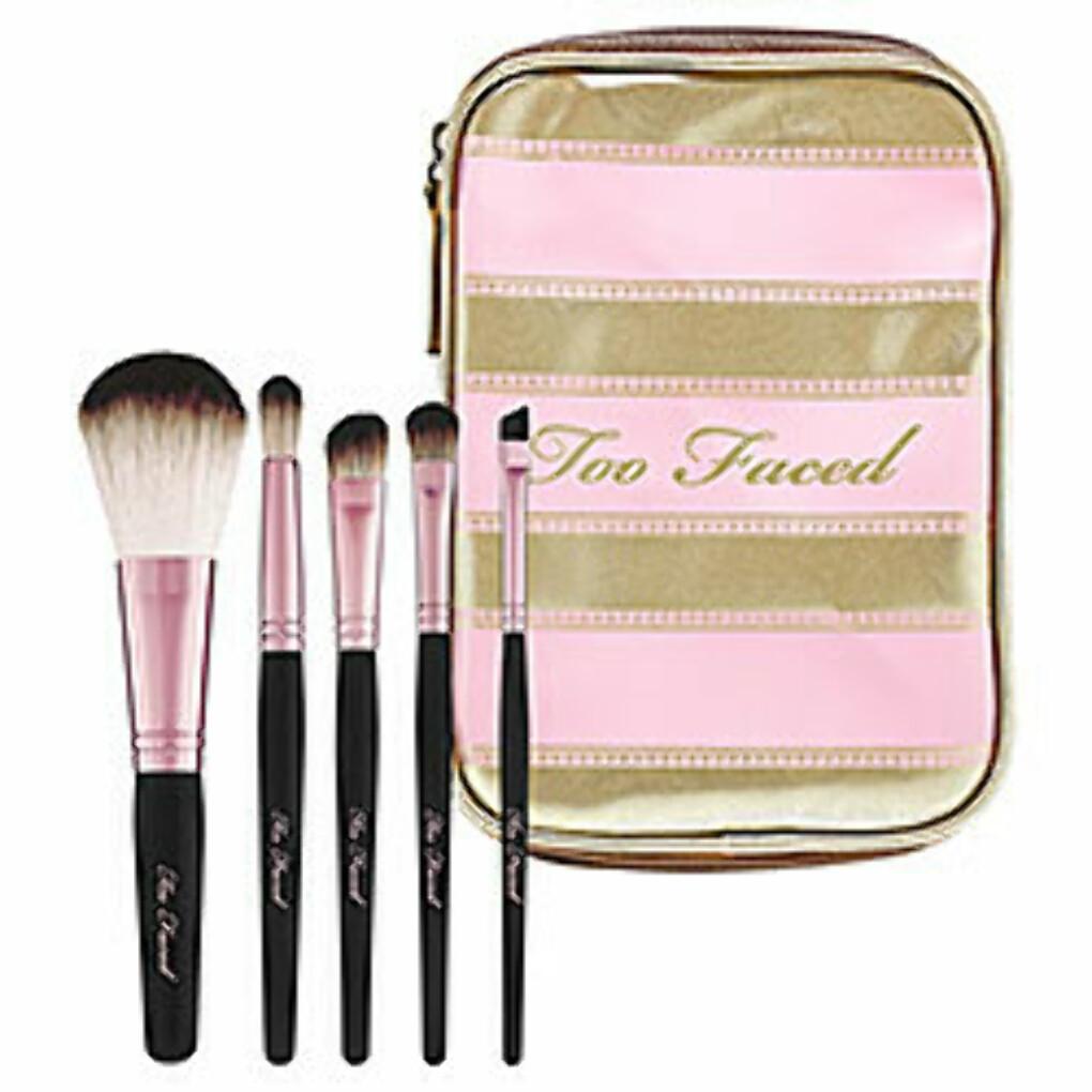 Sephora: Too Faced : Teddy Bear Hair Professional Brush Set : brush-sets-makeup-brushes-applicators-makeup