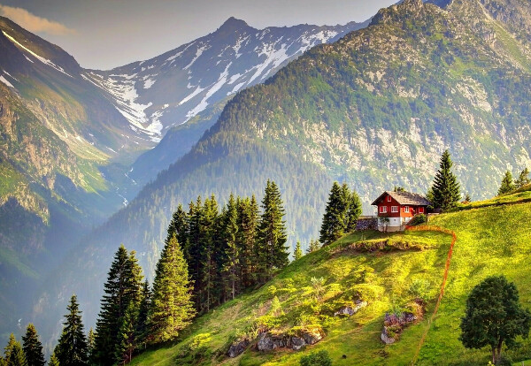 Пожить в домике в горах у озера