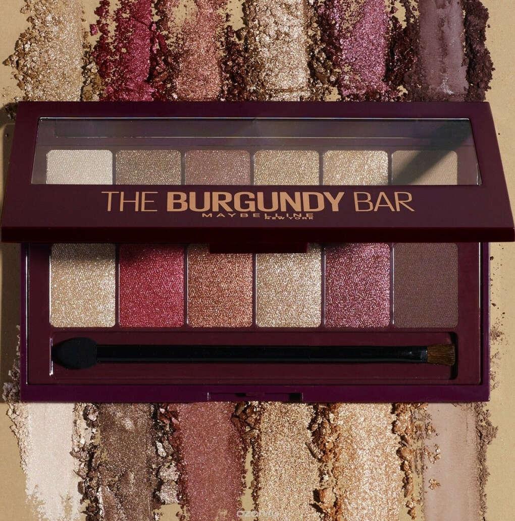 Maybelline New York Палетка теней для век The Burgundy Bar