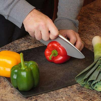 Нож в первобытном стиле из стали