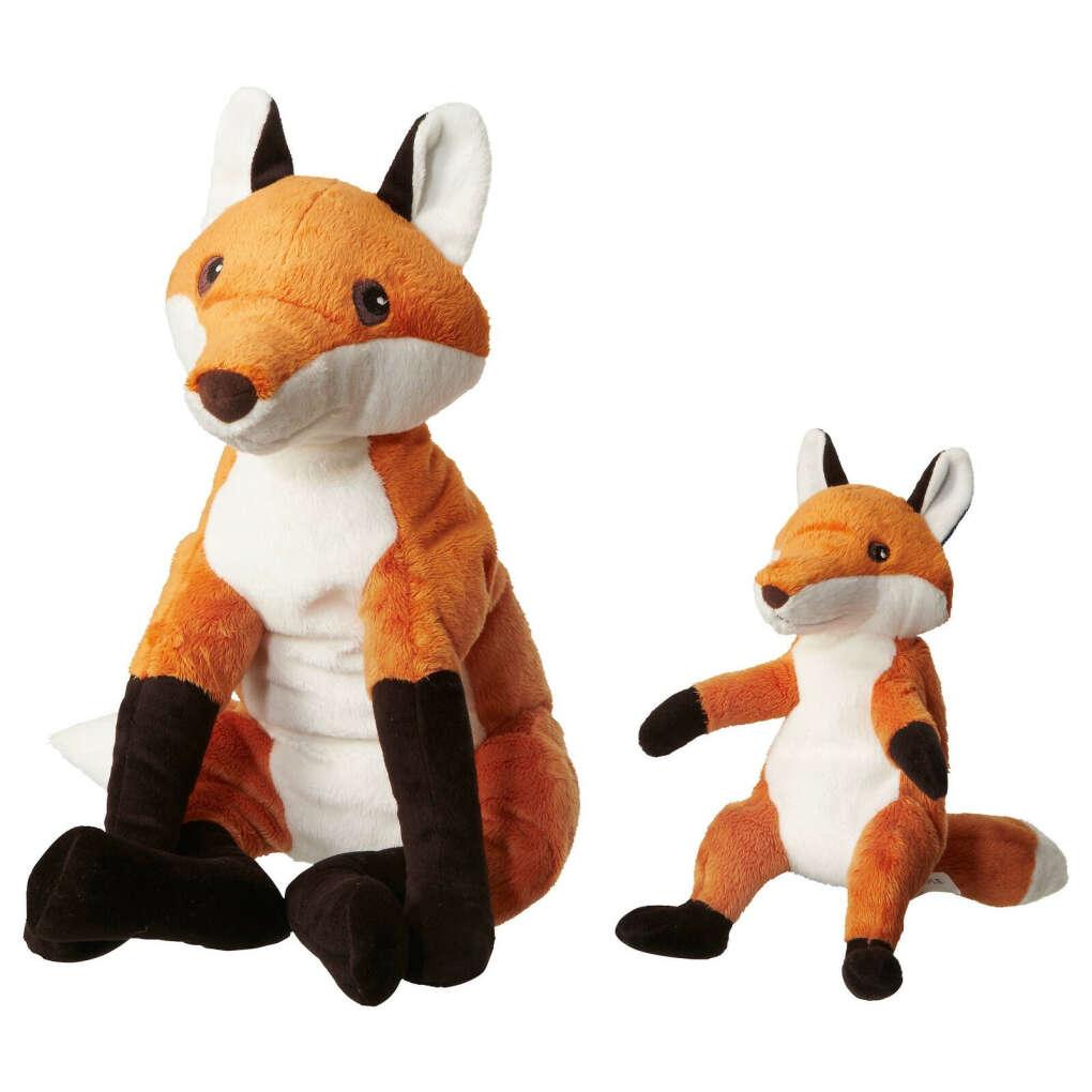 IKEA игрушки 2 лисы (ценен маленький лисёнок) ВАНДРИНГ РЭВ