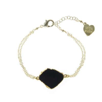 Natural Cut Gemstone Bracelet
