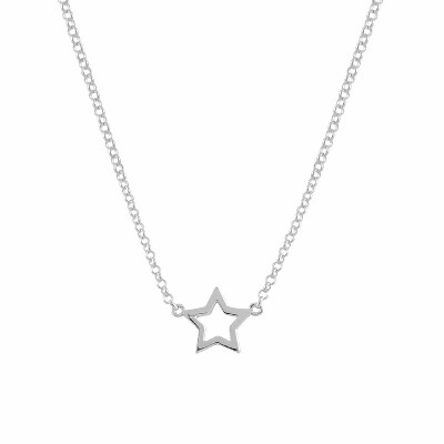 aristocrazy hollow star necklace