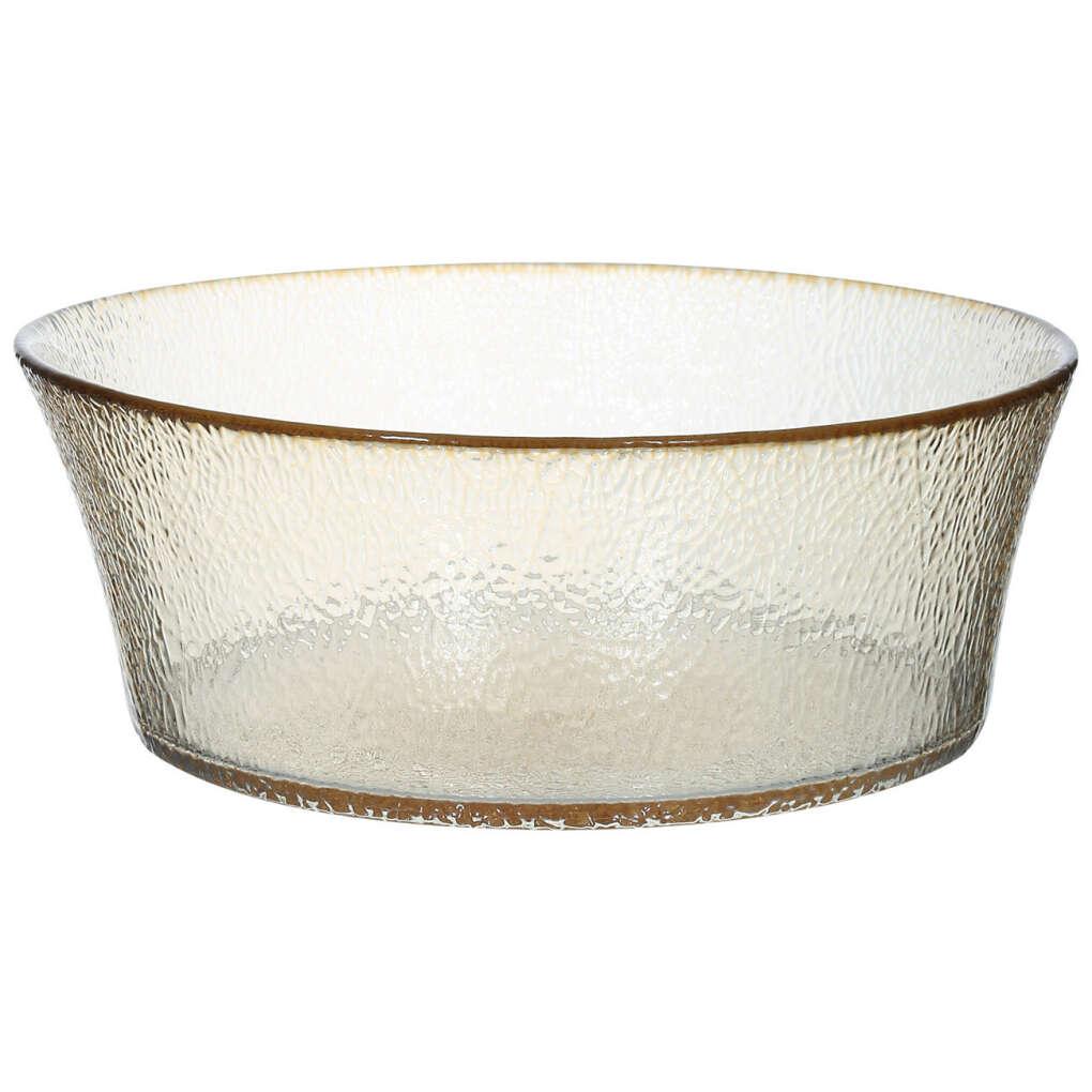 Салатник, 20 см, стекло, золотистый, Cotton