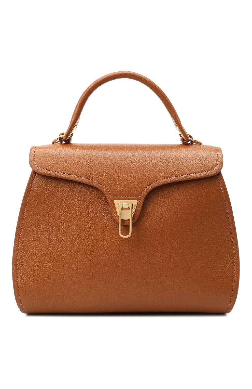 Женская коричневая сумка marvin medium COCCINELLE — купить за 33900 руб. в интернет-магазине ЦУМ, арт. E1 GP0 18 03 01
