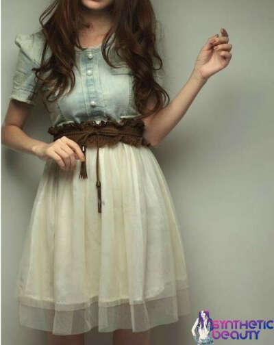 Платье с джинсовым топом