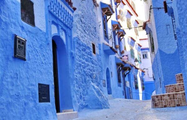 Синє місто Chefchaouen в Марокко