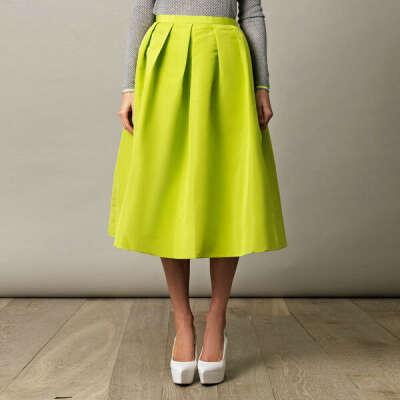 Неоново-жёлтая юбка