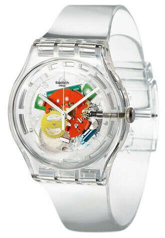 Прозрачные часы Swatch