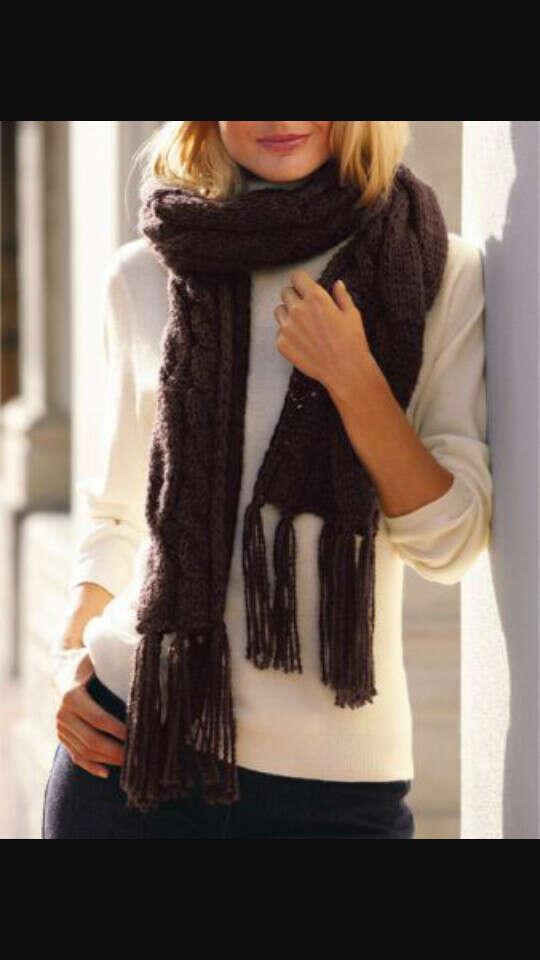 Большой и уютный шарф