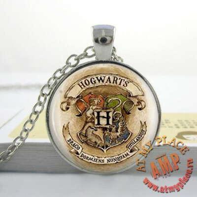 "Кулон-медальон ""Герб Хогвартса"" - ""Гарри Поттер"""