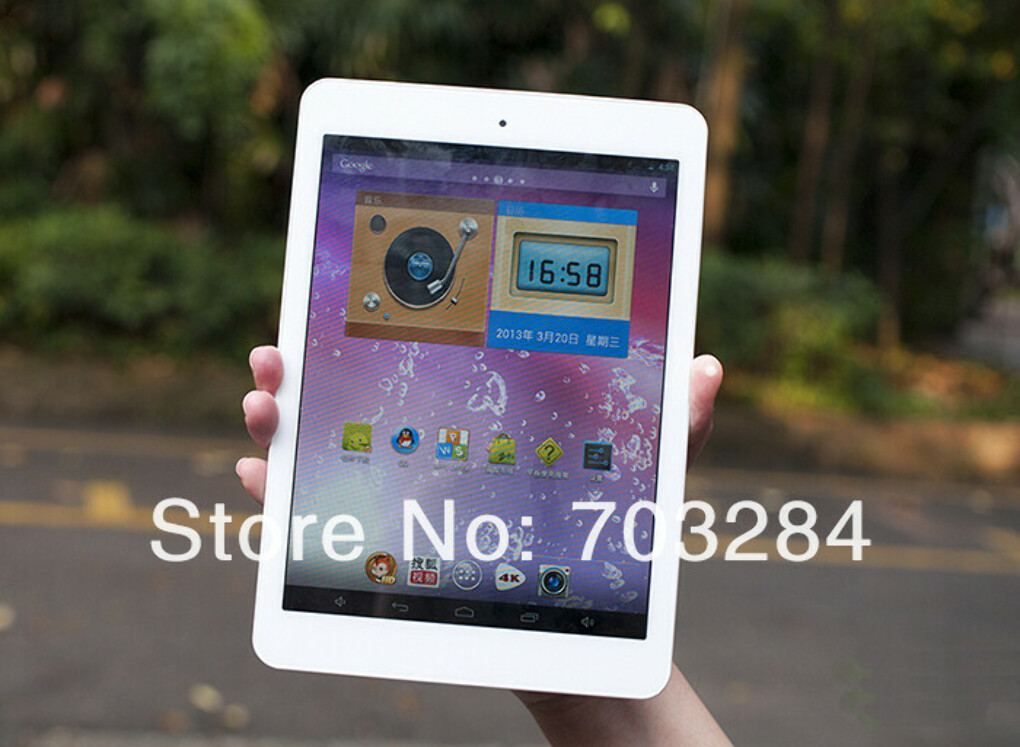 "Freeshipping 7.9"" Onda V818 mini x10 Ultra Slim Quad Core IPS III tablet with 1G/16G 0.3/5.0 MP Camera 1024*768 Android 4. 1-in Tablet PCs from Computer & Networking on Aliexpress.com"