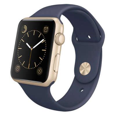 Смарт-часы Apple Watch Apple Sport 42mm Gold Al/Mid.Blue Sport (MLC72RU/A)