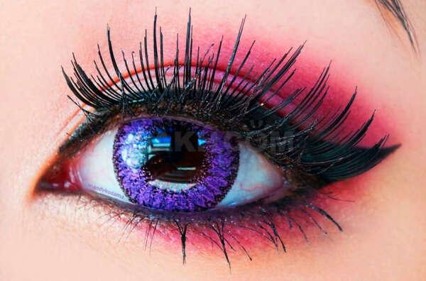 фиолетовые линзы для глаз