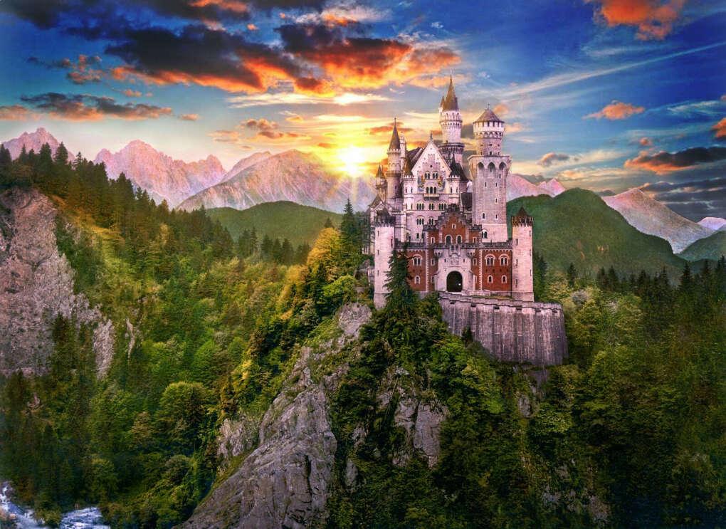 в замок Нойшванштайн