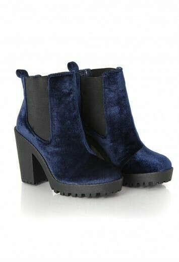 Missguided - Arria Velvet Block Heel