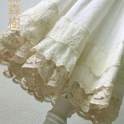 1649.14руб. 36% СКИДКА|Женская многослойная кружевная юбка Mori Girl, белая плиссированная юбка принцессы, кавайная юбка из хлопка, японский стиль, кавайная юбка для девочек|Юбки|   | АлиЭкспресс