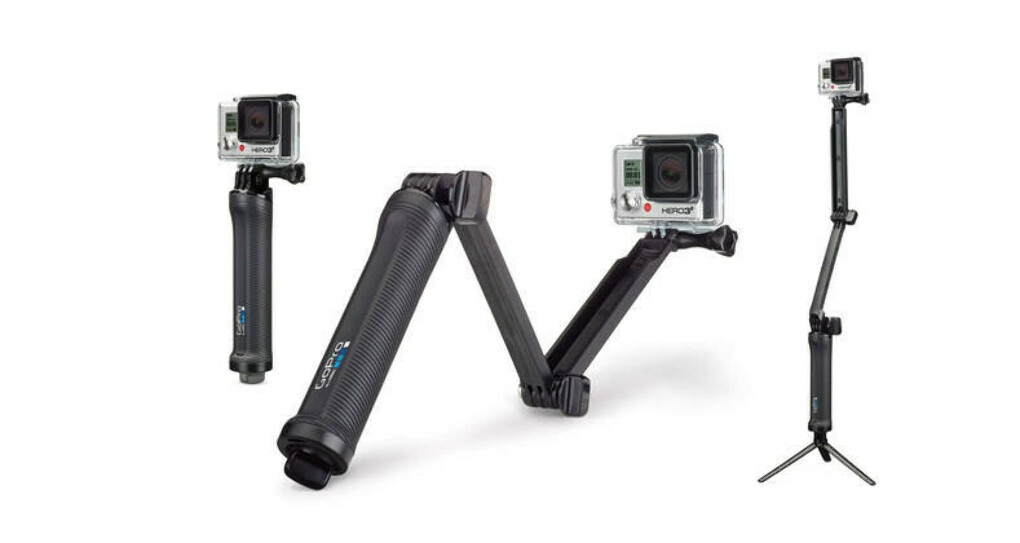 GoPro 3-way | This 3-in-1 mount can be used as a camera grip, extension arm or tripod.