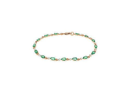 Купить украшение - Браслет с бриллиантом и изумрудом из  в интернет-магазине MagicGold.ru