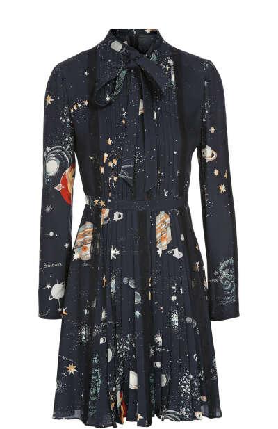 Женское синее платье VALENTINO — купить за 319500 руб. в интернет-магазине ЦУМ, арт. JB3VA415/20Y