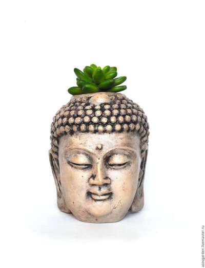 Кашпо Будда для кактусов и суккулентов горшок Голова Будды