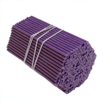 Свечи восковые фиолетовые №120