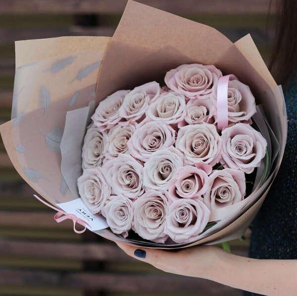 Букет роз сорта Мента