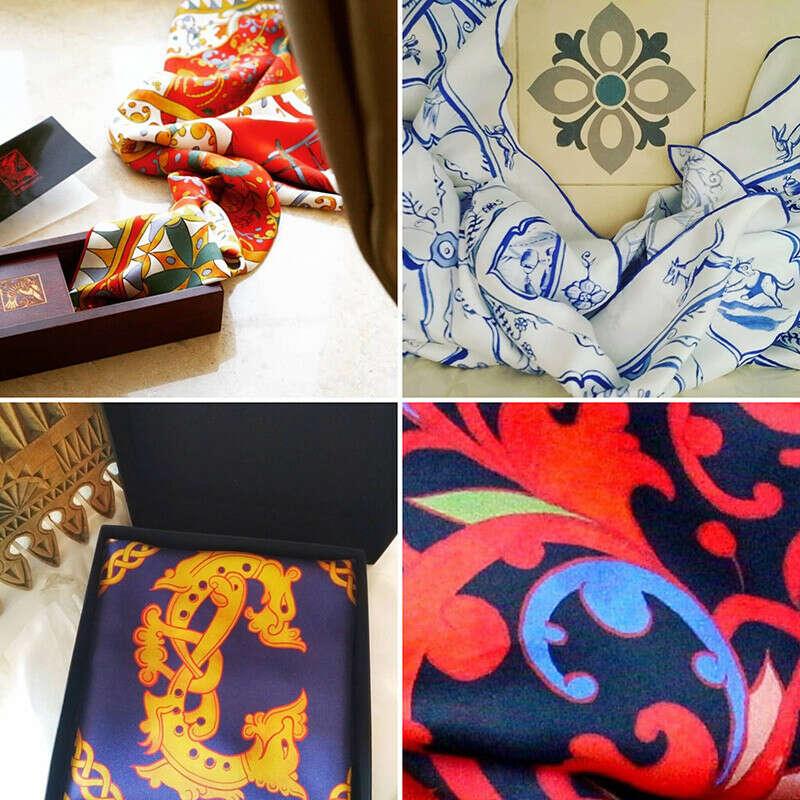 Шёлковый платок в русском стиле