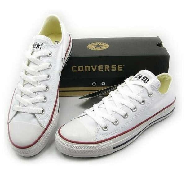 Converse (белые, низкие)