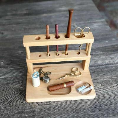 Чудесный буковый органайзер для Ваших инструментов