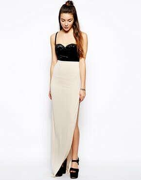 Платье макси с высоким разрезом Glamorous