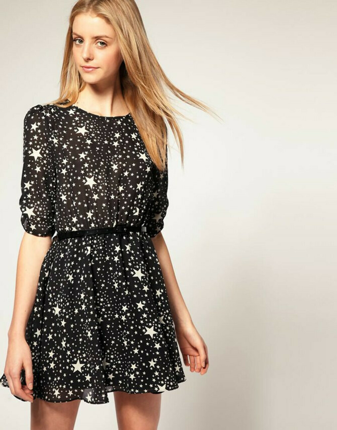 Платье со звездами