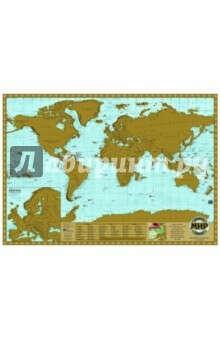 Скретч карта Мир (GT101 / СК_МИР60АГТ)