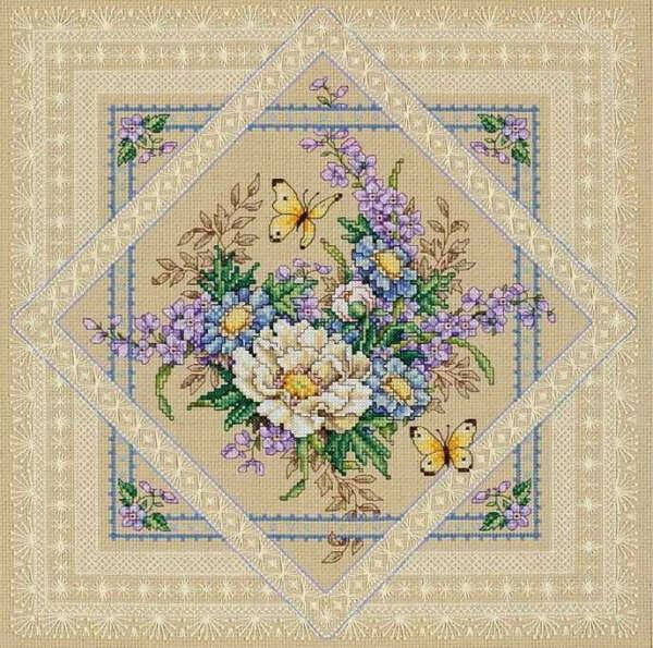 """Вышивка - """"Ажурные цветы"""""""